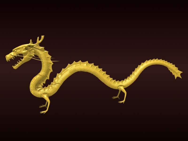 High detailed Chinese dragon 08 ( 167.08KB jpg by hpixel )