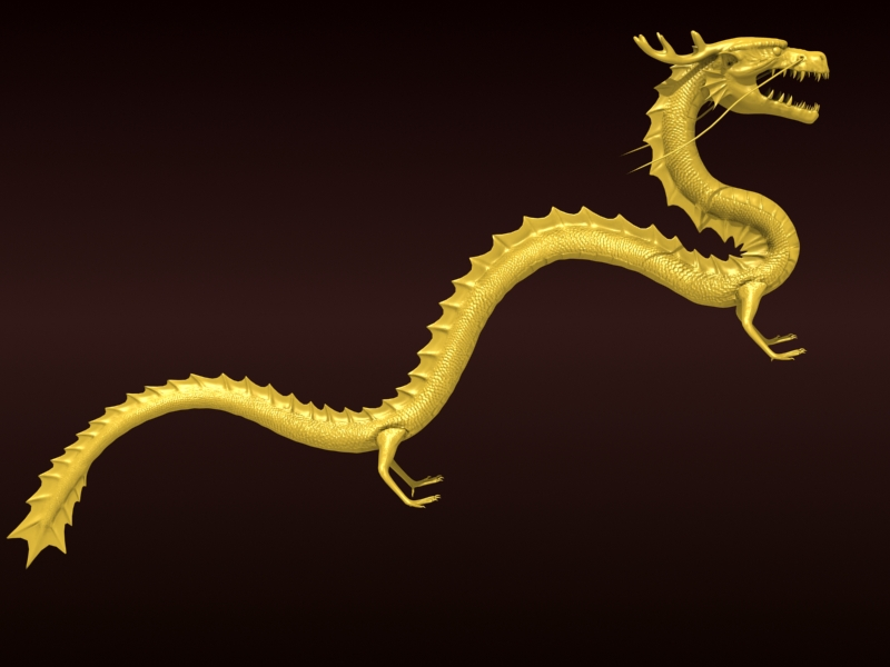 High detailed Chinese dragon 08 ( 172.7KB jpg by hpixel )