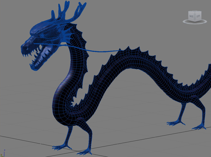High detailed Chinese dragon 08 ( 301.78KB jpg by hpixel )