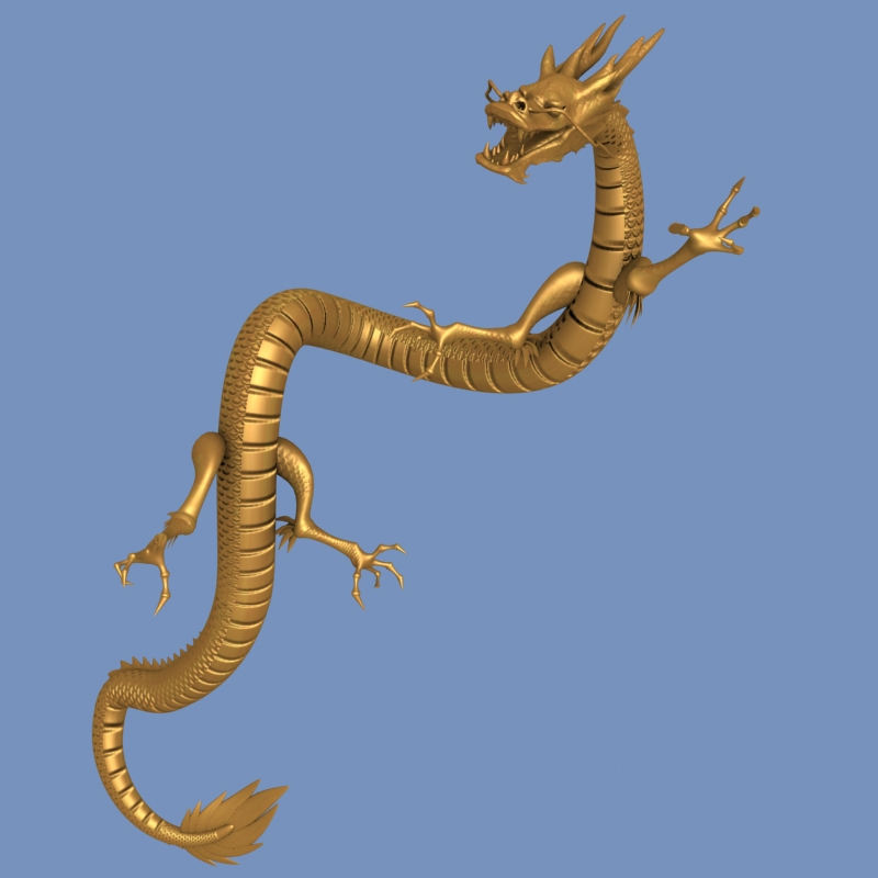 High detailed Chinese dragon 05 ( 216.75KB jpg by hpixel )