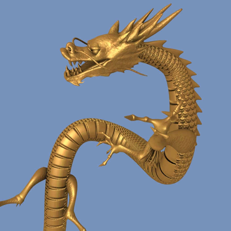 High detailed Chinese dragon 05 ( 284.42KB jpg by hpixel )