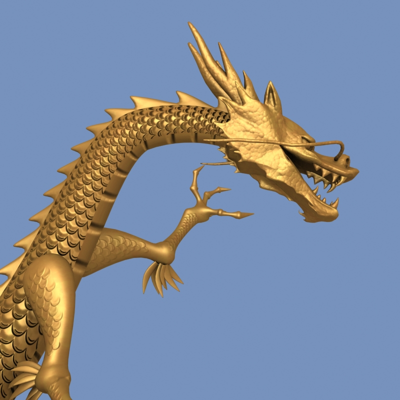 High detailed Chinese dragon 05 ( 275.39KB jpg by hpixel )