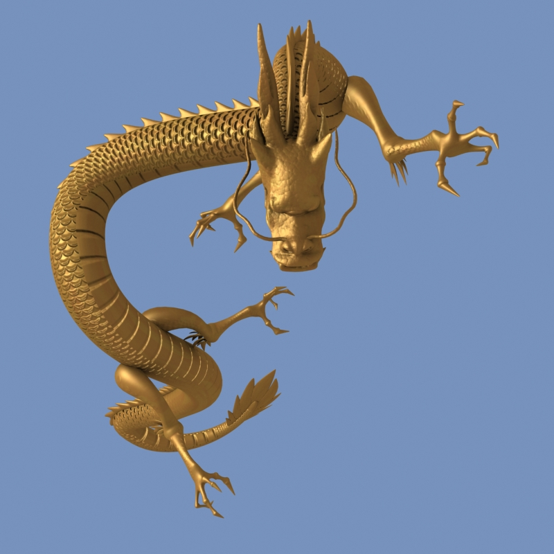 High detailed Chinese dragon 05 ( 252.52KB jpg by hpixel )