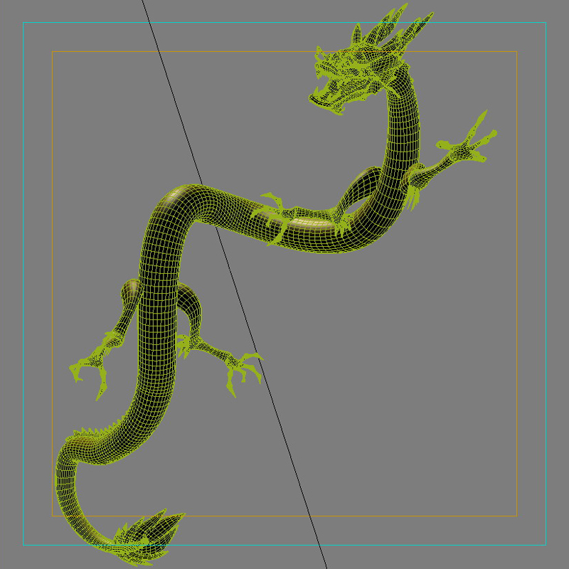 High detailed Chinese dragon 05 ( 271.47KB jpg by hpixel )