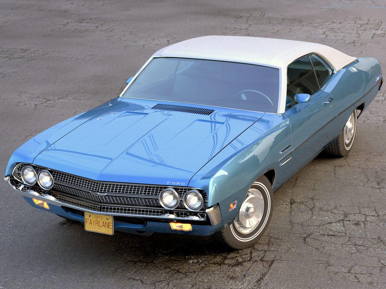 fairlane coupe 1970 3d model 3ds max fbx c4d obj 208182