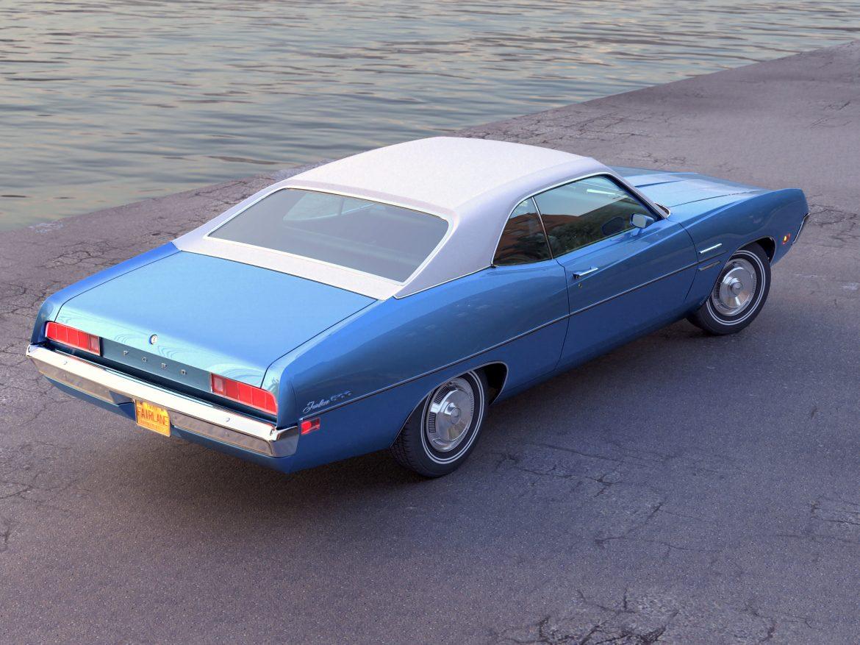 fairlane coupe 1970 3d model 3ds max fbx c4d obj 208183