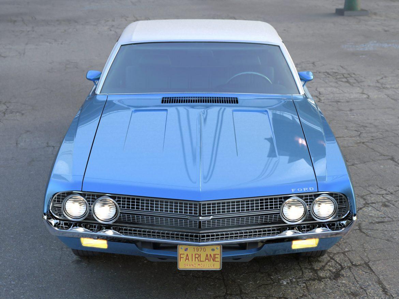 fairlane coupe 1970 3d model 3ds max fbx c4d obj 208184