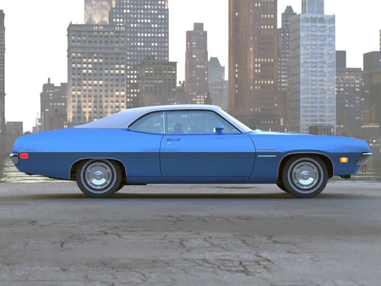 fairlane coupe 1970 3d model 3ds max fbx c4d obj 208185