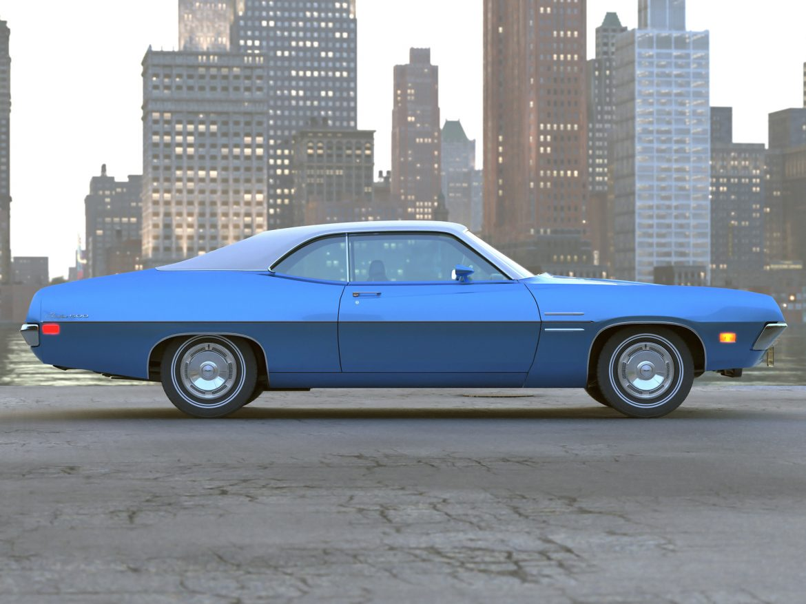 Fairlane Coupe 1970 3d model 0