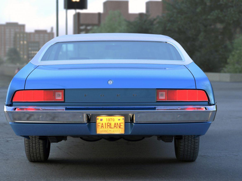 fairlane coupe 1970 3d model 3ds max fbx c4d obj 208186