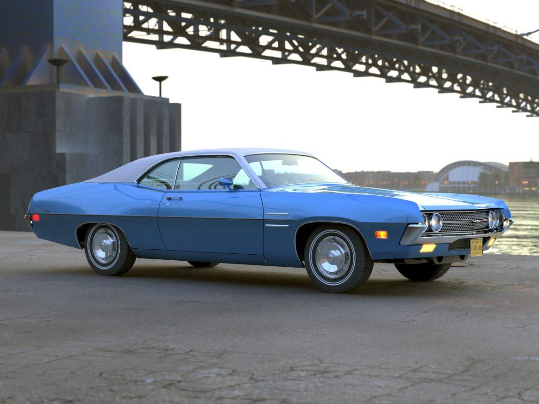 fairlane coupe 1970 3d model 3ds max fbx c4d obj 208187