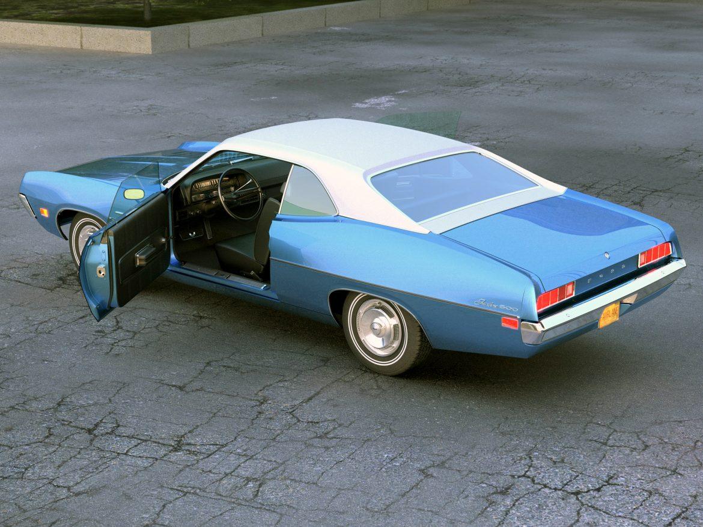 fairlane coupe 1970 3d model 3ds max fbx c4d obj 208188