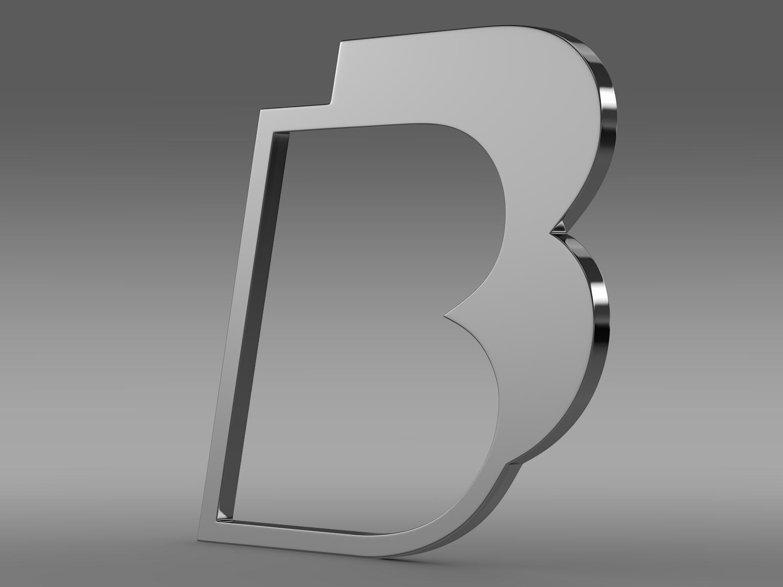 BB logo 3d model 3ds max fbx lwo lws lw ma mb  obj 208208