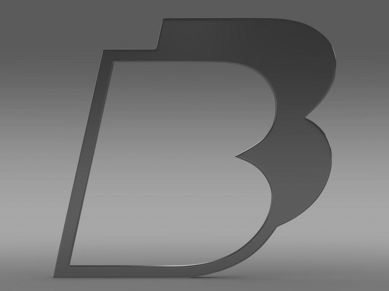 bb logo 3d model 3ds max fbx lwo ma mb hrc xsi obj 208209