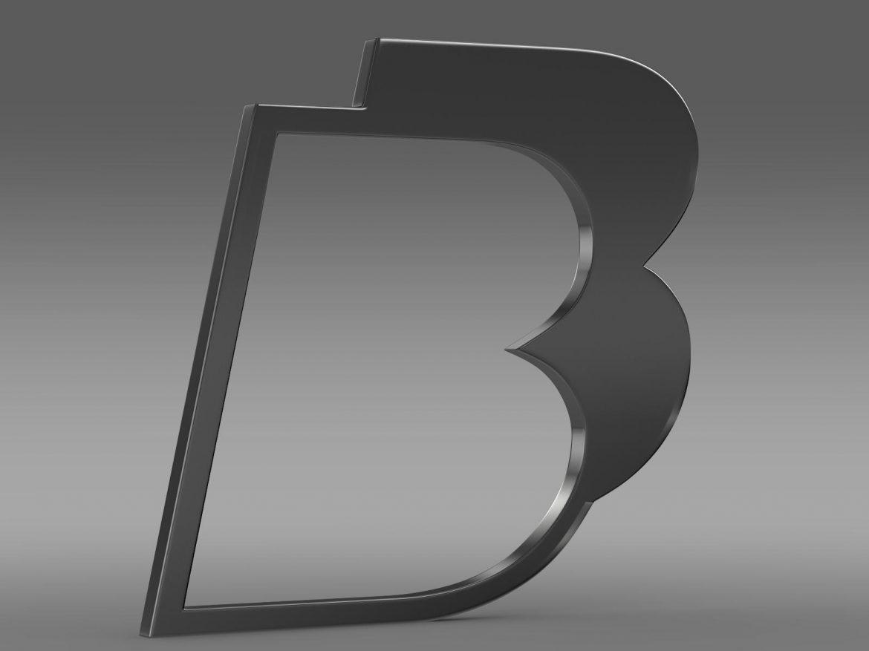 bb logo 3d model 3ds max fbx lwo ma mb hrc xsi obj 208210