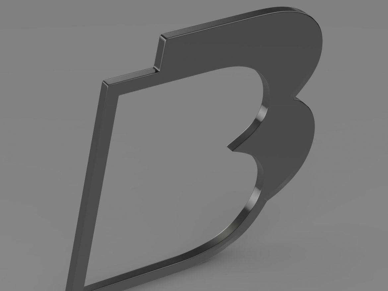 bb logo 3d model 3ds max fbx lwo ma mb hrc xsi obj 208213