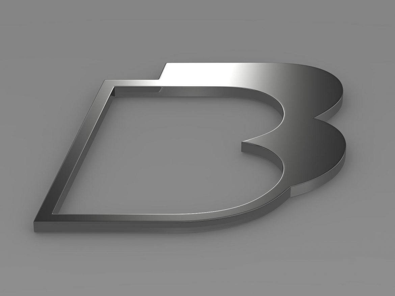 bb logo 3d model 3ds max fbx lwo ma mb hrc xsi obj 208215