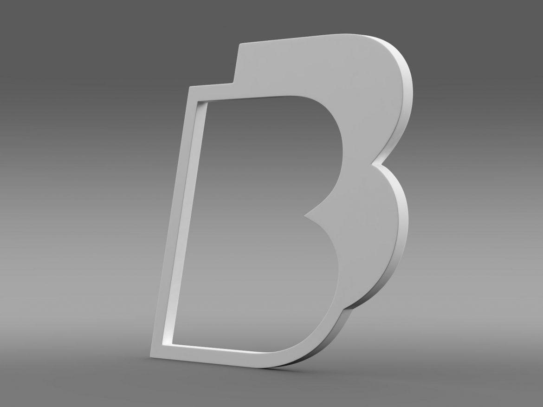 bb logo 3d model 3ds max fbx lwo ma mb hrc xsi obj 208216