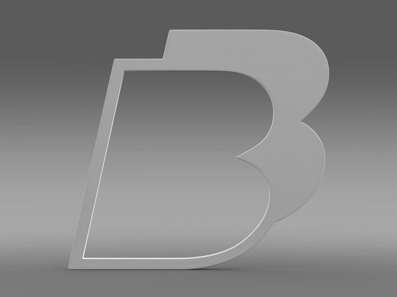 bb logo 3d model 3ds max fbx lwo ma mb hrc xsi obj 208217