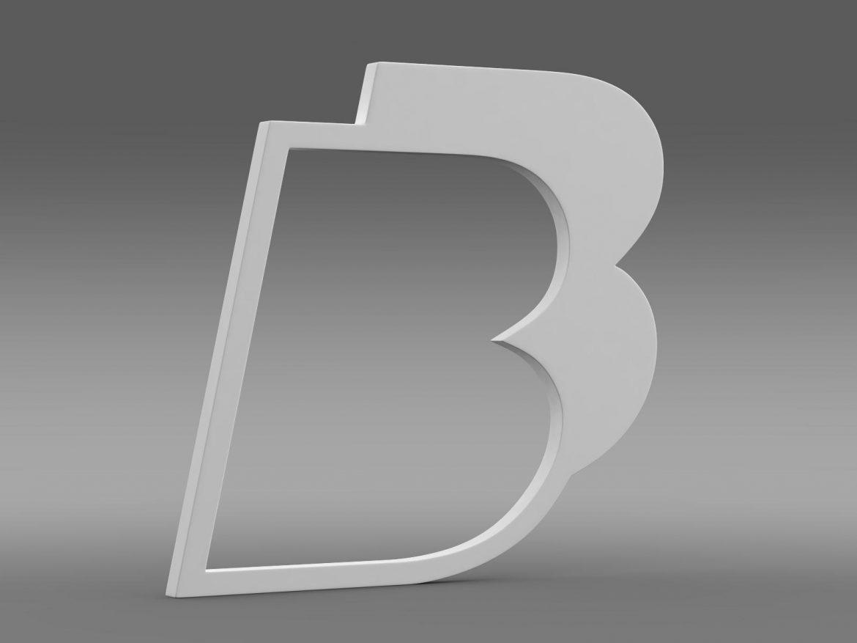 bb logo 3d model 3ds max fbx lwo ma mb hrc xsi obj 208218