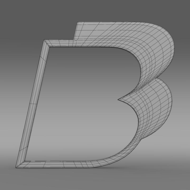 bb logo 3d model 3ds max fbx lwo ma mb hrc xsi obj 208219