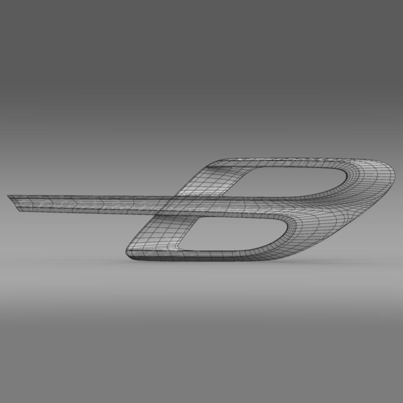bentley logo 3d model 3ds max fbx c4d lwo ma mb hrc xsi obj 208233