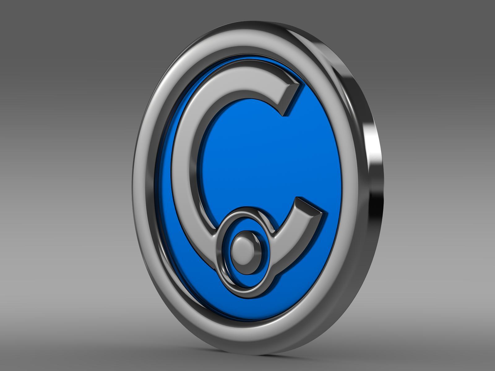 casalini logo 3d model 3ds max fbx c4d lwo ma mb hrc xsi obj 208235