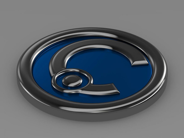 casalini logo 3d model 3ds max fbx c4d lwo ma mb hrc xsi obj 208242