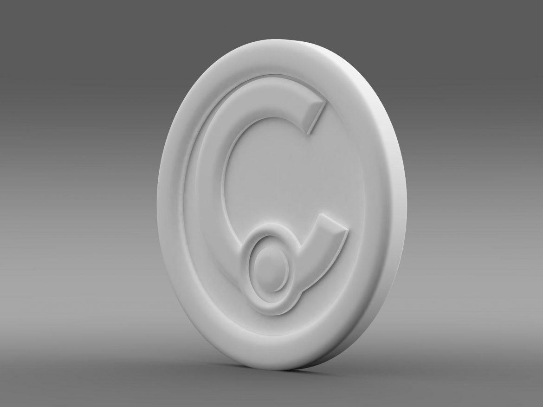 casalini logo 3d model 3ds max fbx c4d lwo ma mb hrc xsi obj 208243