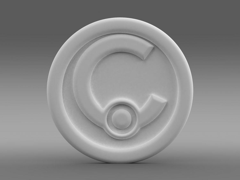 casalini logo 3d model 3ds max fbx c4d lwo ma mb hrc xsi obj 208244