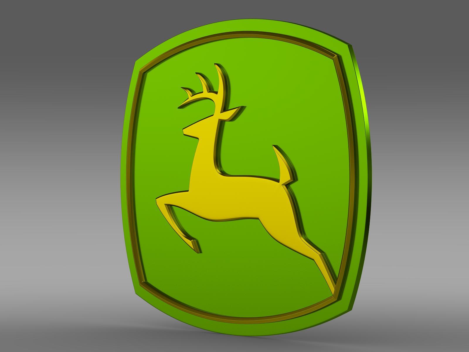 John Deer logo 3d model 3ds max fbx c4d lwo lws lw ma mb  obj 208248