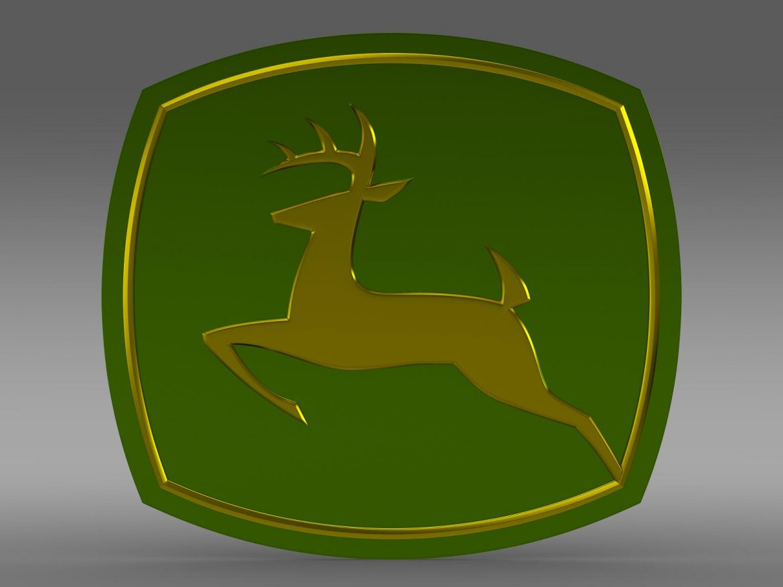 john deer logo 3d model 3ds max fbx c4d lwo ma mb hrc xsi obj 208249