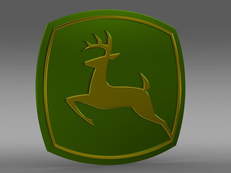 john deer logo 3d model 3ds max fbx c4d lwo ma mb hrc xsi obj 208250