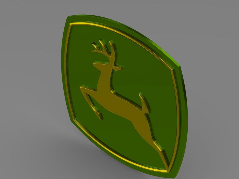 john deer logo 3d model 3ds max fbx c4d lwo ma mb hrc xsi obj 208251