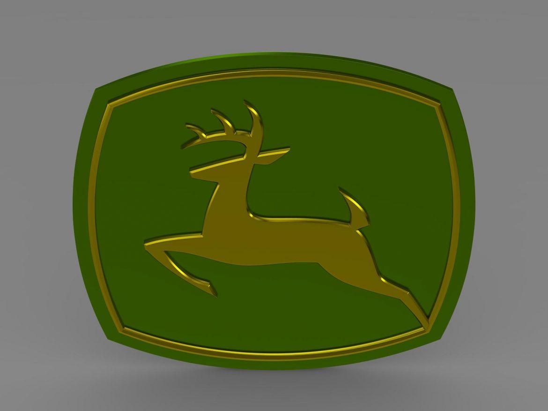 john deer logo 3d model 3ds max fbx c4d lwo ma mb hrc xsi obj 208252