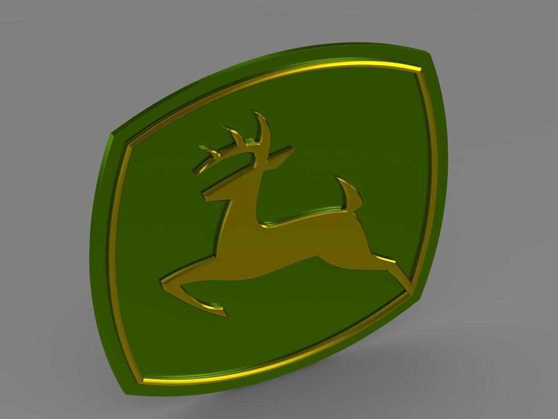 john deer logo 3d model 3ds max fbx c4d lwo ma mb hrc xsi obj 208253