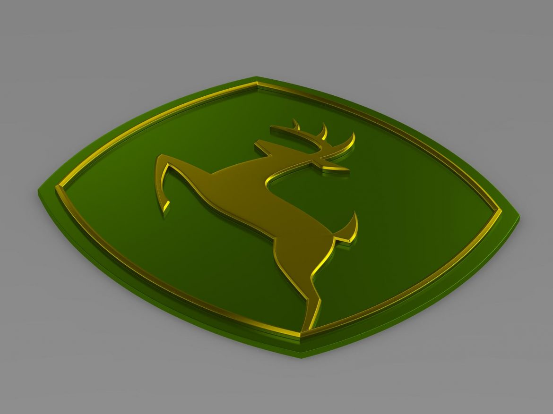 john deer logo 3d model 3ds max fbx c4d lwo ma mb hrc xsi obj 208254