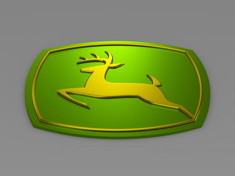 john deer logo 3d model 3ds max fbx c4d lwo ma mb hrc xsi obj 208255