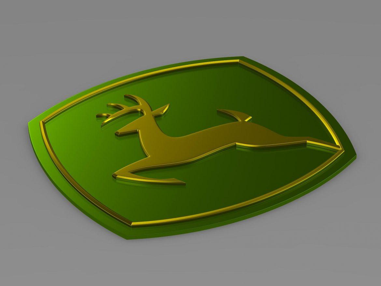 john deer logo 3d model 3ds max fbx c4d lwo ma mb hrc xsi obj 208256