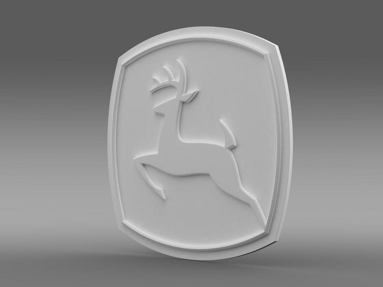 john deer logo 3d model 3ds max fbx c4d lwo ma mb hrc xsi obj 208257