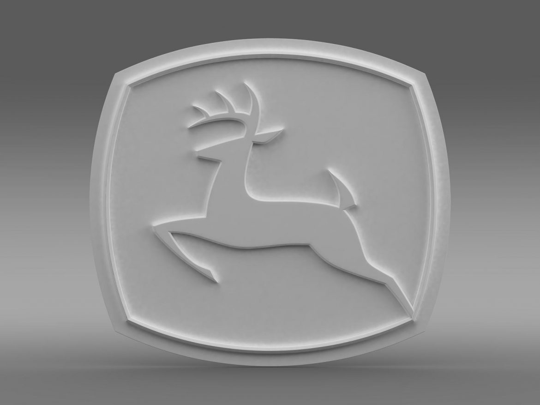 john deer logo 3d model 3ds max fbx c4d lwo ma mb hrc xsi obj 208258