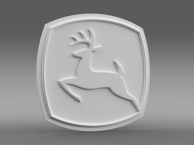 john deer logo 3d model 3ds max fbx c4d lwo ma mb hrc xsi obj 208259