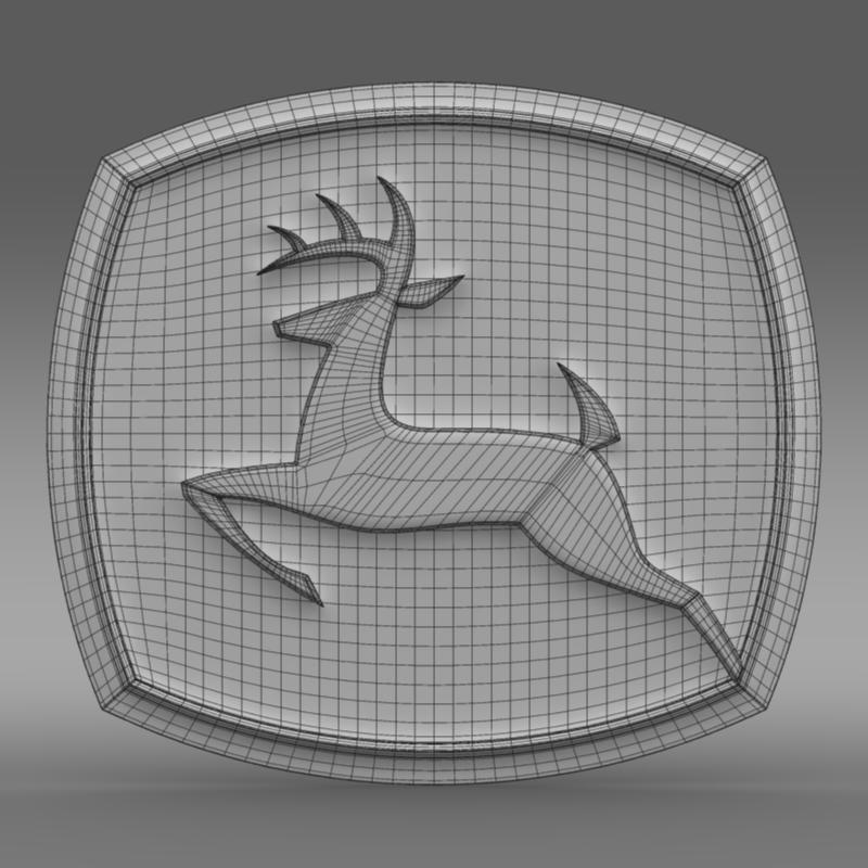 john deer logo 3d model 3ds max fbx c4d lwo ma mb hrc xsi obj 208260