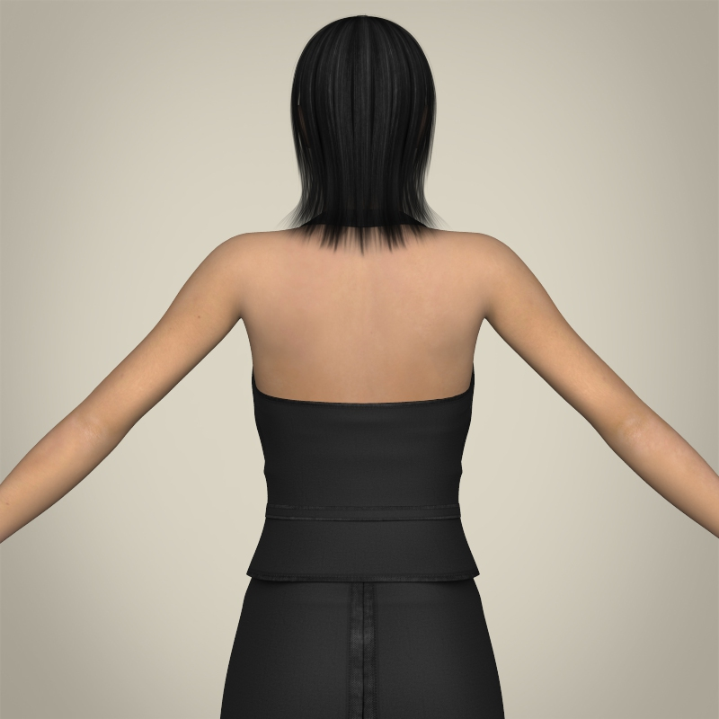 realistic young working woman 3d model 3ds max fbx c4d lwo ma mb texture obj 208296