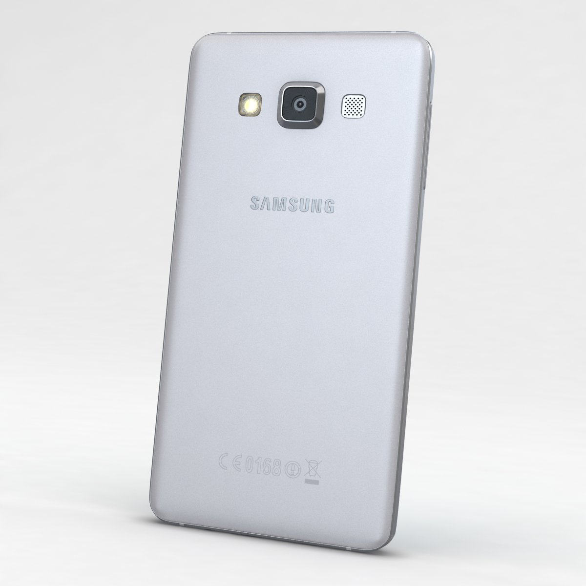 samsung galaxy a3 and a3 duos silver 3d model 3ds max fbx c4d obj 208311