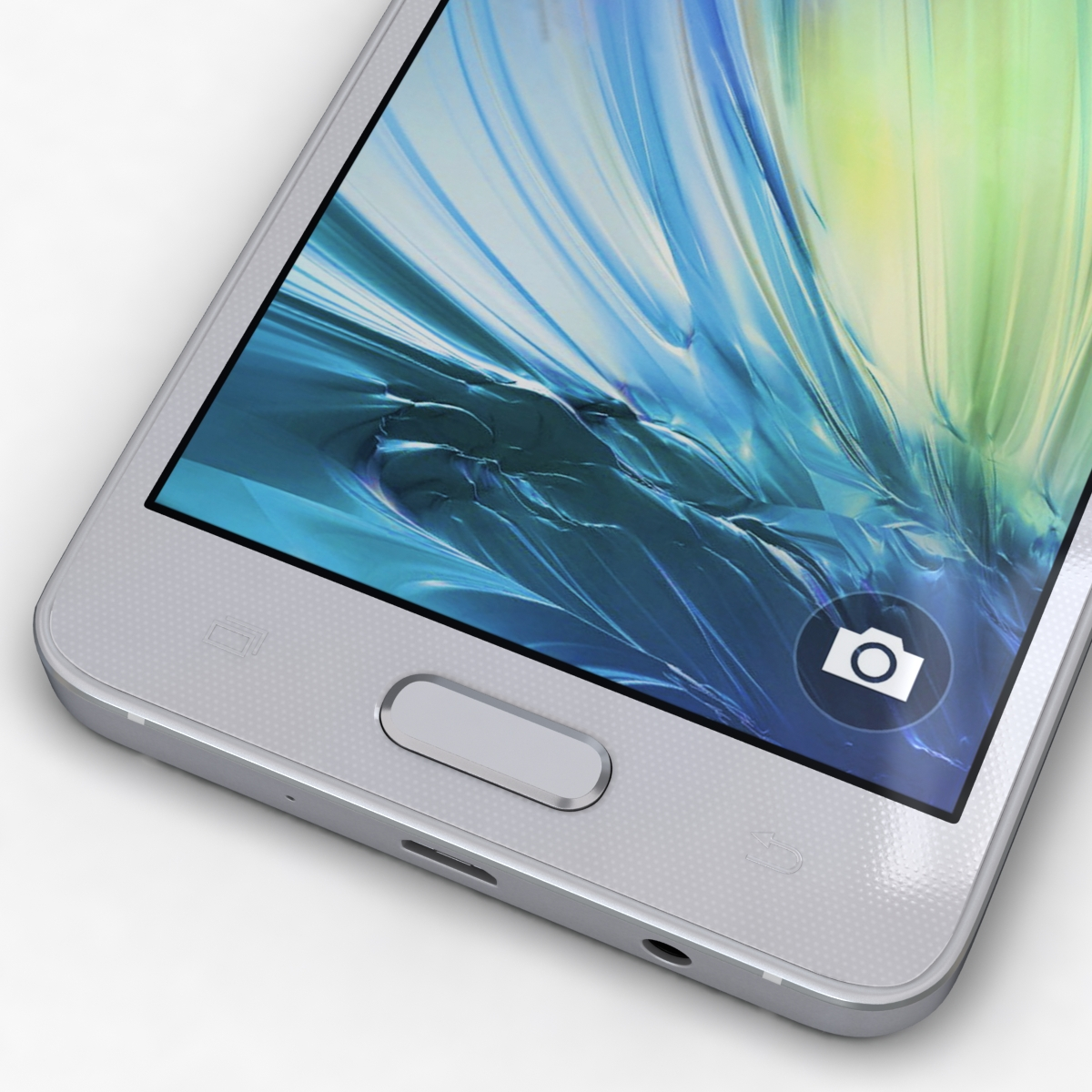 samsung galaxy a3 and a3 duos silver 3d model 3ds max fbx c4d obj 208312
