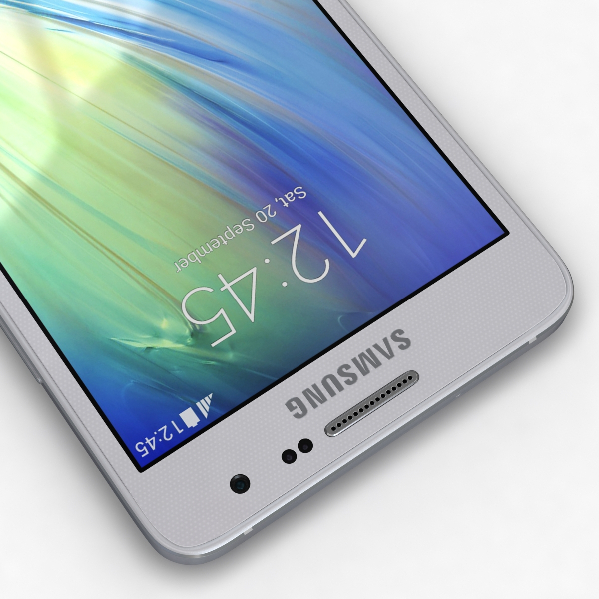 samsung galaxy a3 and a3 duos silver 3d model 3ds max fbx c4d obj 208313