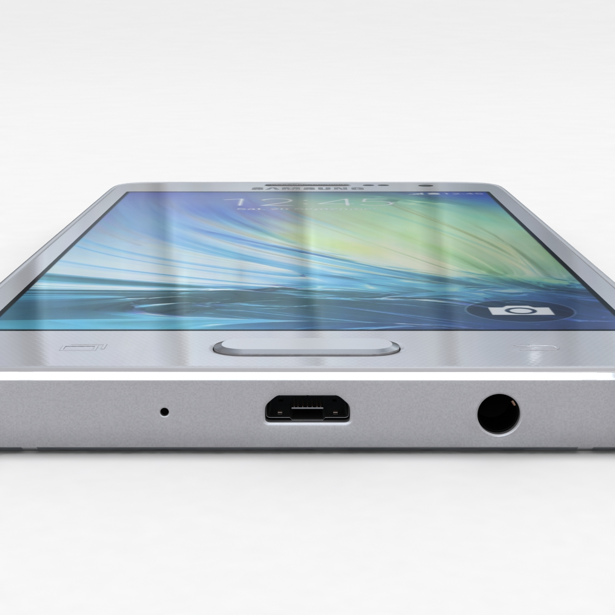 samsung galaxy a3 and a3 duos silver 3d model 3ds max fbx c4d obj 208317