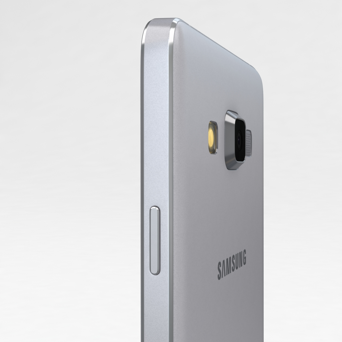 samsung galaxy a3 and a3 duos silver 3d model 3ds max fbx c4d obj 208318