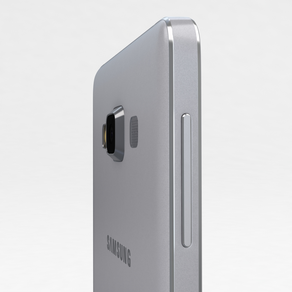 samsung galaxy a3 and a3 duos silver 3d model 3ds max fbx c4d obj 208319